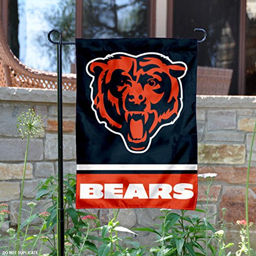 Chicago Bears Bear Head Logo Double Sided Garden - Chicago Sports Flag