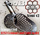Beach Sand Scoop CooB Small Hunting Detector Tool SCOUT v2 Stainless Steel HEXAGON -10 Holes