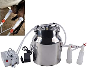 Futt Single Bucket Piston Vacuum Ultra-Strong Frequency Pulsation Milking Machine for Cows Cattle or Sheep Optional (14L, Sheep)