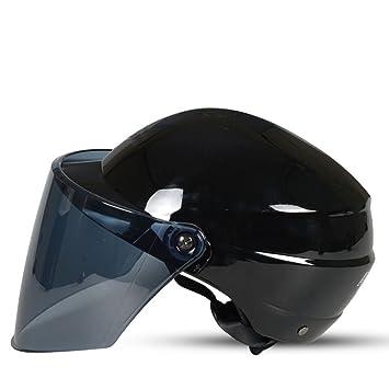 Motocicleta Casco Hombres Y Mujeres Coche Eléctrico Verano Medio Casco Protector Solar Anti-ultravioleta Luz