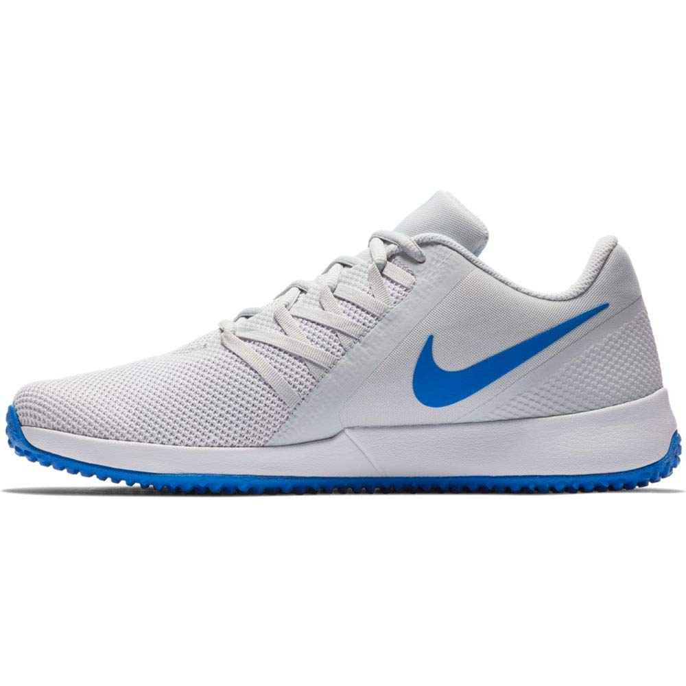 2c75bfdf104 NIKE Men's Pure Platinum/Signal Blue White Varsity Compete Trainer Running  Shoes (AA7064-008)