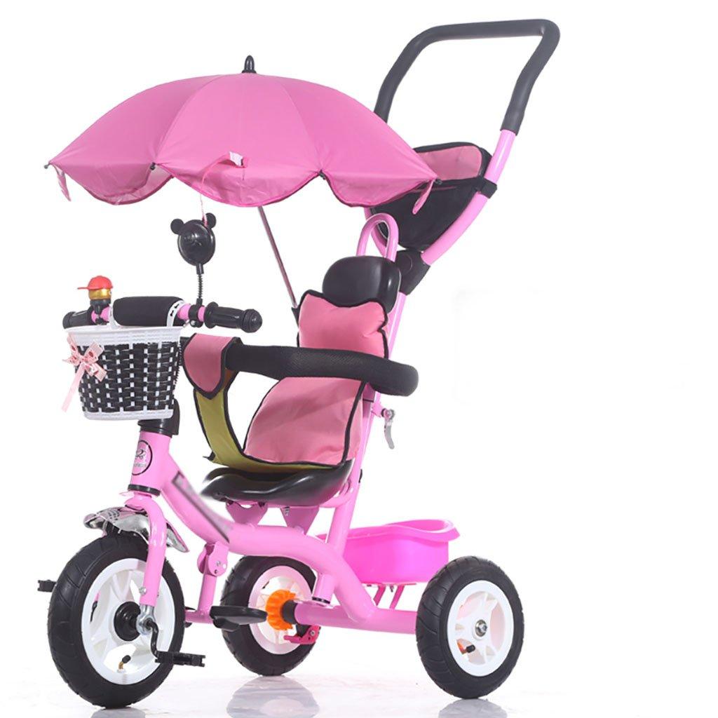 子供の三輪自転車/1-5歳のベビー/子供用自転車 (色 : A) B07DVGXFBDA