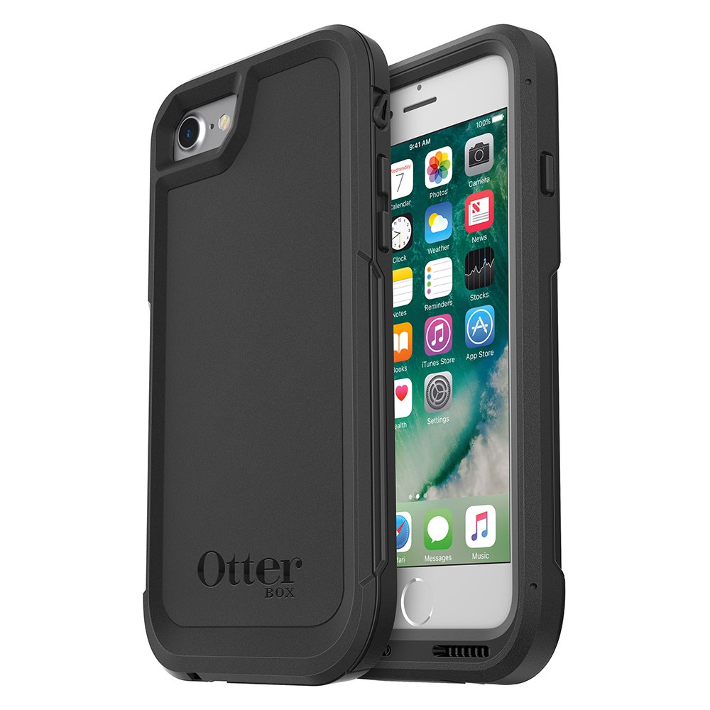 buy online f08a8 7ce7b OtterBox Pursuit Case for iPhone 7/iPhone 8 - Retail Packaging - Black