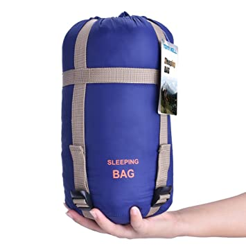 Tenn Well - Sacos de dormir, tamaño grande ligero resistente al agua Rectangular saco de dormir para Camping senderismo (azul oscuro): Amazon.es: Deportes y ...