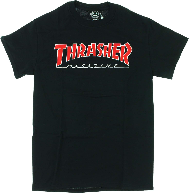 Thrasher Magazine camiseta negra delineada: Amazon.es: Libros