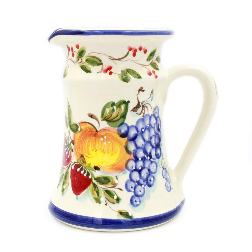 Hand-painted Decorative Traditional Portuguese Ceramic Pitcher #LA34 by FAIREAL