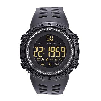 Relojes Digitales 3 Colores Reloj Electrónico Redondo Luz de Fondo Reloj Deportivo Impermeable(Negro): Amazon.es: Deportes y aire libre