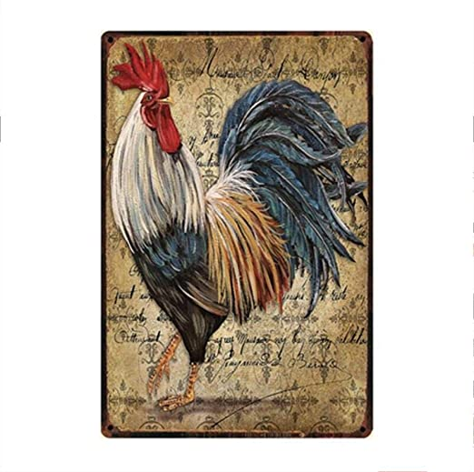 shovv Chicken Crossing Farm Fresh Eggs Metal Sign Cartel de ...