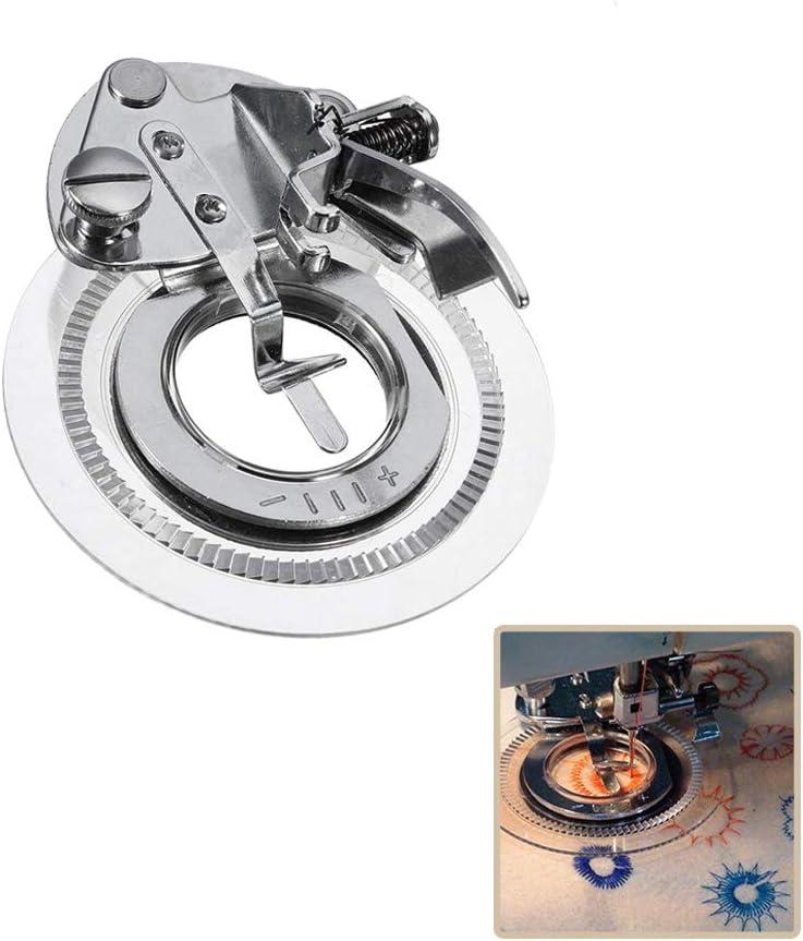 Onerbuy Daisy Flower Stitch Máquina de coser Prensatelas Bordado decorativo Puntada Círculos Ruffler Prensatelas para máquinas de costura de bajo vástago a presión