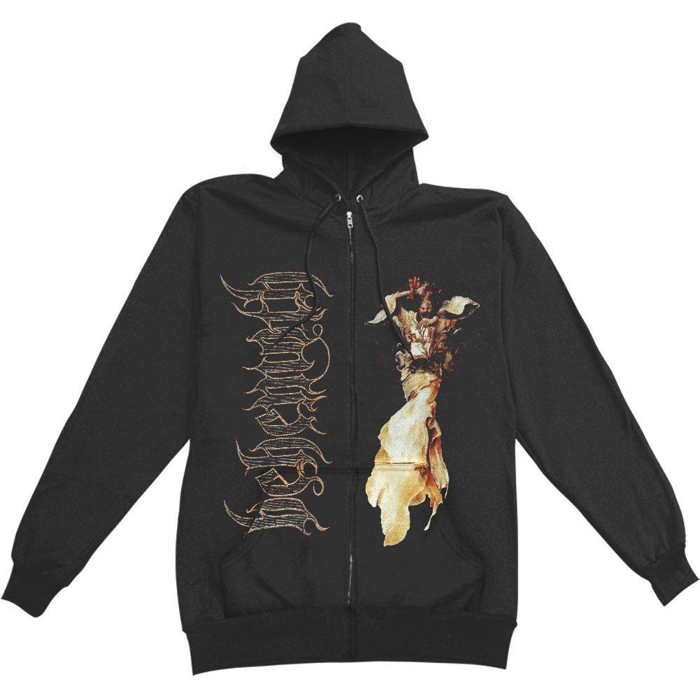 Kings Road Behemoth Men's Angel Zippered Hooded Sweatshirt Black