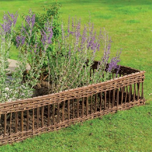 Woven Willow Edging with vertical cross sections pattern, 16