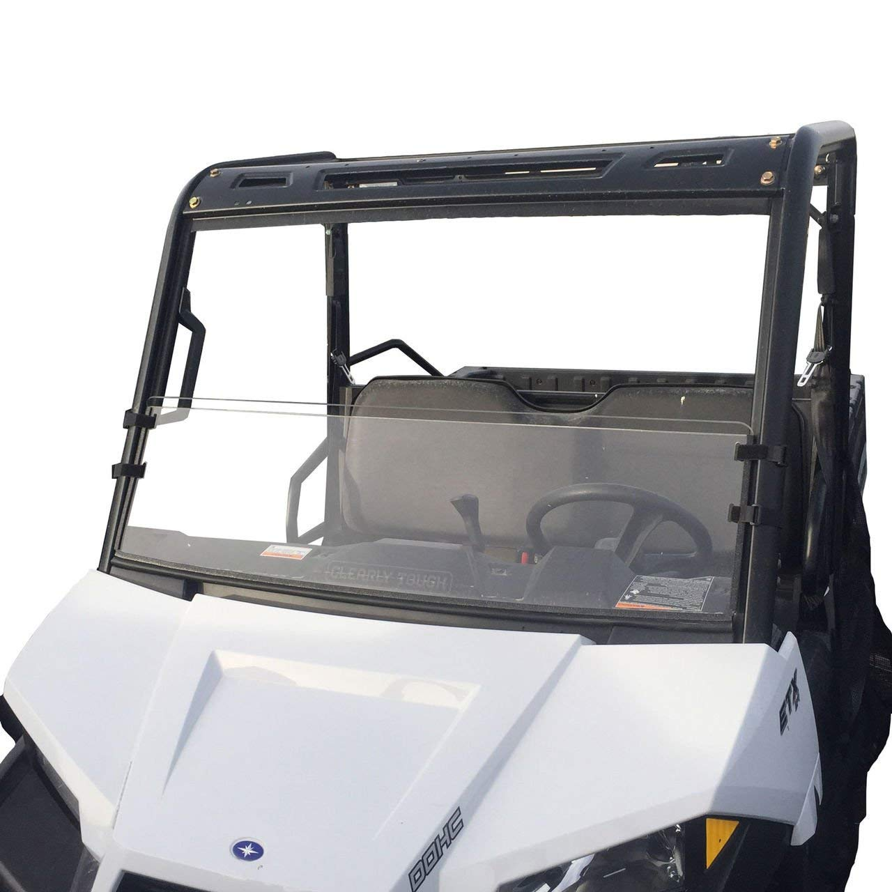 Clearly Tough Polaris Ranger Mid Size Windshield (2015 and Newer) Half -Scratch Resistant- The Ultimate in Side by Side Versatility!Premium Polycarbonate w/Hard Coatmade in America!! Clearly Tough - Polaris Ranger Polaris Ranger Midsize half windshield