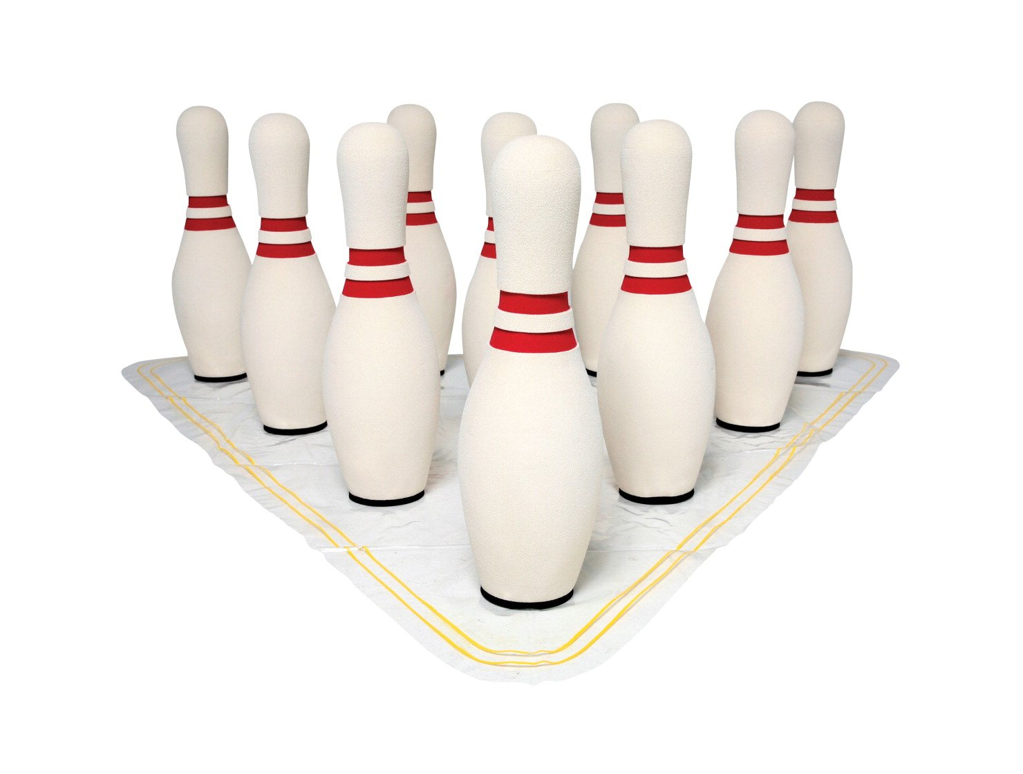 Sportime UltraFoam Bowling Pin Set with Set up Mat - 15 Inch by Sportime