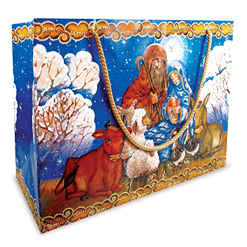 Christmas NATIVITY Gift Bag - Nativity Gift Bag Large - Set of 3 P040106-18 by Designocracy