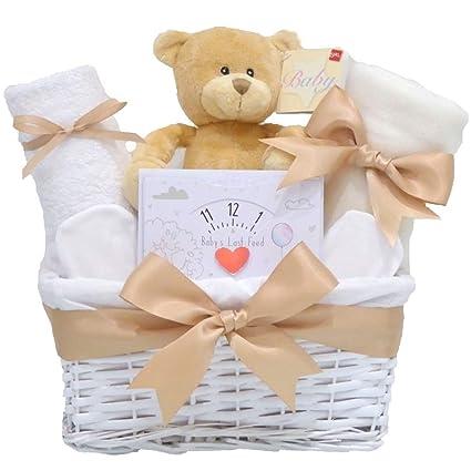 My First Teddy Bear - Cesta unisex para bebé, diseño de oso de ...