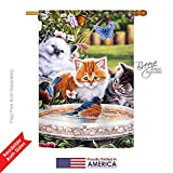 Breeze Decor PT-H-110071-IP Splashing Up Some Fun Nature Everyday Pets Impressions Vertical House Flag, 28″x 40″, Multicolor Review