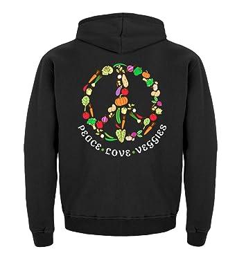 Peace Love Veggie Lustiges Vegetarier Veganer T Shirt Mit Spruch