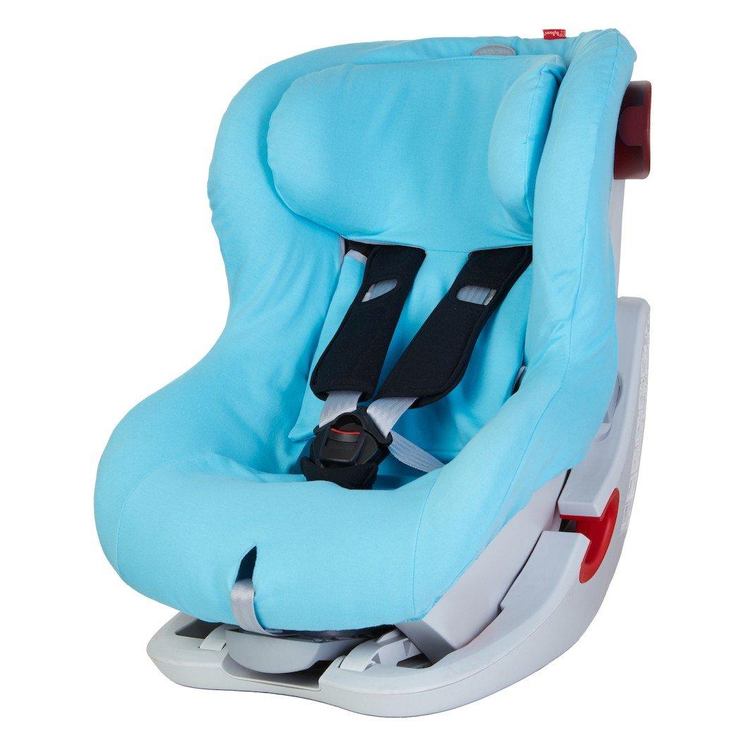 ByBoom - Sommerbezug Baumwolle für Kinder-Autositz, universal für z.B. Britax Römer KING II ATS, LS, KING PLUS, SAFEFIX PLUS/PLUS TT, Farbe:Fuchsia