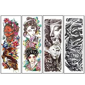 REFURBISHHOUSE 4 Pcs/Lote Pegatina De Tatuajes Temporal ...