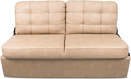 68IN JACK KNIFE SOFA BECKHAM TAN WITH KICKBOARD
