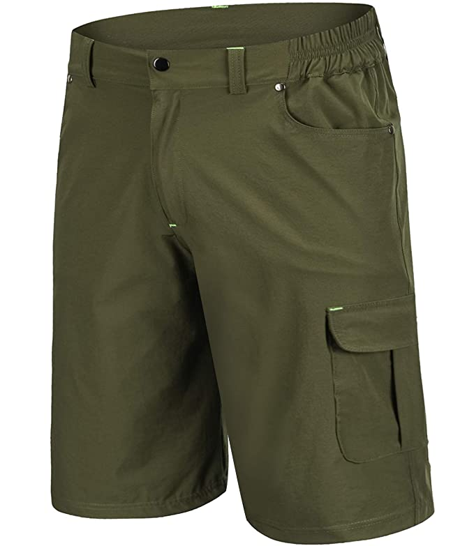 Outto Men's Cargo Baggy Bike Shorts Quick Dry Loose Fit