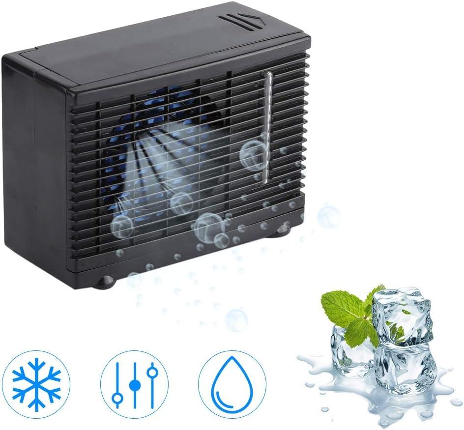 Tnfeeon 12V Mini Aire Acondicionado Refrigerador para Vehículos de Automóviles, Mini Ventilador del Aire Acondicionado del refrigerador de Aire portátil para Coche