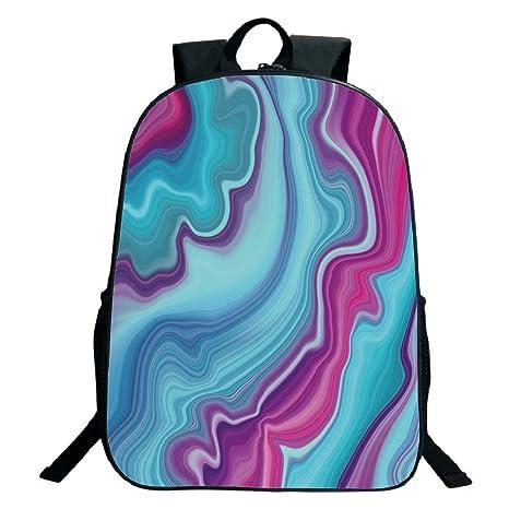 d91b866c9307 Amazon.com: 3D Print Design Black School Bag,backpacksMarble ...