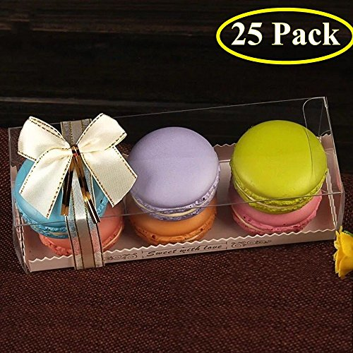 25PCS Luxury Clear Bakery Cake Macaron Gift Box for Wedding Party Baby Shower Favors