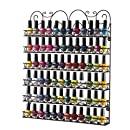 Home-it Nail Polish Rack Nail Polish Organizer Holds up to 102 Bottles Metal Frame, Unbreakable (Color Bronze)