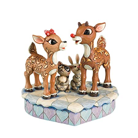 Enesco Rudolph The Red Nosed Reindeer Rudolph Standing with Clarice Figurine 6-1 2-Inch