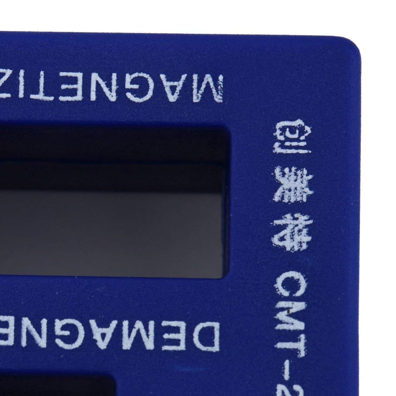 EdBerk74 Desmagnetizador de imagen 2 en 1 para puntas de destornillador el/éctrico//manual Herramienta magn/ética Destornillador port/átil Herramienta de recolecci/ón magn/ética