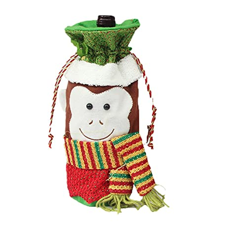 Adornos de Navidad botella conjuntos,Moon mood® Christmas Bottle Sets Biberones de Navidad Bolsa