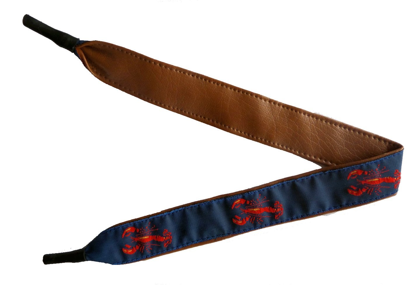 No27 Unisex Nautical Red and Navy Lobster Ribbon with Leather Material Eyeglass Croaky 15 Inches by No27