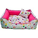 Cama Pet para Cães e Gatos Tropical Rosa Tamanho Médio SS Pets para Cães