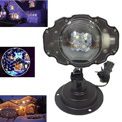 Navidad Regalo De Halloween LED Proyector Copo De Nieve Luz Mini Ultra Alto Brillo Spotlight Desmontable