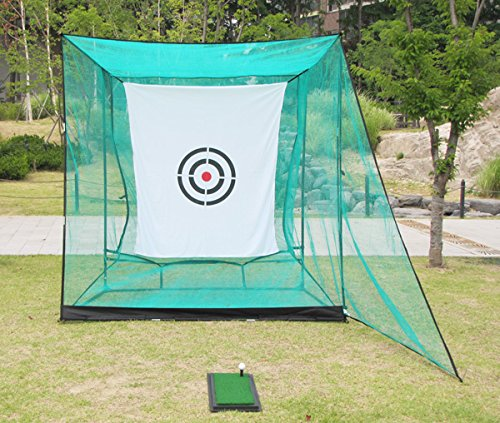 EKGOLFGREEN(イーケーゴルフグリーン) 簡単組み立て鳥かごゴルフ練習ネット基本セット(幅2.4m×高2.4m×奥行1.5m)超コンパクト鳥かごゴルフネットゴルフ練習用品;自宅にゴルフ練習場をつくろう!   B07D2ZXY62