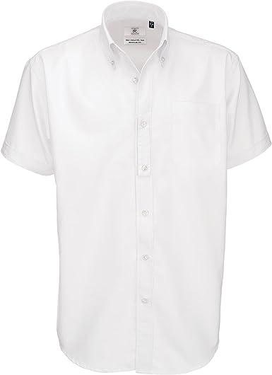 B&C - Camisa de manga corta Modelo Oxford (Tallas grandes) para Hombre Caballero - Fiesta/Trabajo/Eventos importantes: Amazon.es: Ropa y accesorios