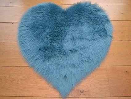 Duck Egg Blue Faux Fur Rug
