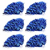 6Pcs Cheerleader Pom Poms Squad Cheer Sports Party Dance Costume Accessories