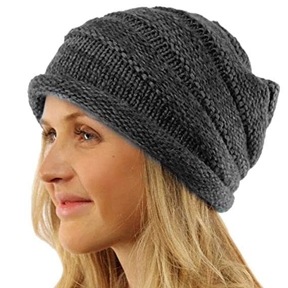 2d825588498 Image Unavailable. Image not available for. Color  AutumnFall Womens Mens  Winter Warm Knitting Hats Wool Baggy Slouchy Beanie ...