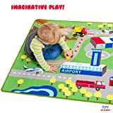 Kids Play Car Rug - Community Carpet Mat Large, 78 x 39
