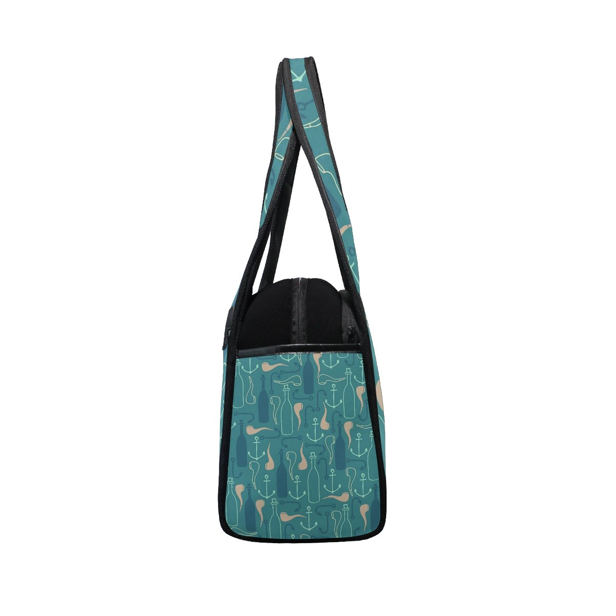 Sport Gym Bag Anchor Pipe Pattern Canvas Travel Duffel Bag
