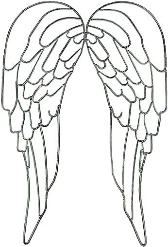 Distinctive Designs Metal Wire Art Angel Wings Wall Sculpture 25 inch