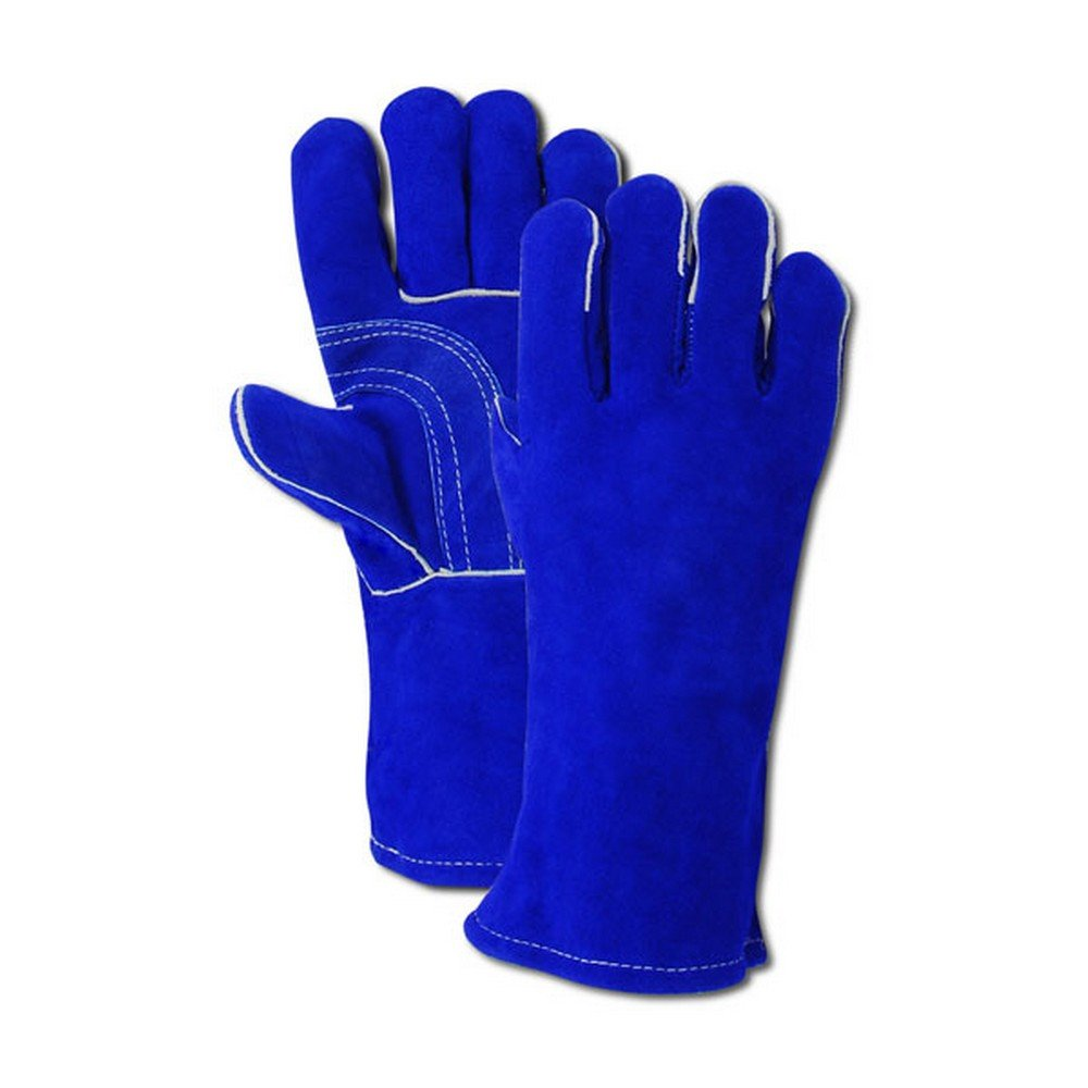 Magid Glove & Safety T6902S  Side Split Cow Leather Welding Gloves, Large, Blue (Pack of 12) by Magid Glove & Safety