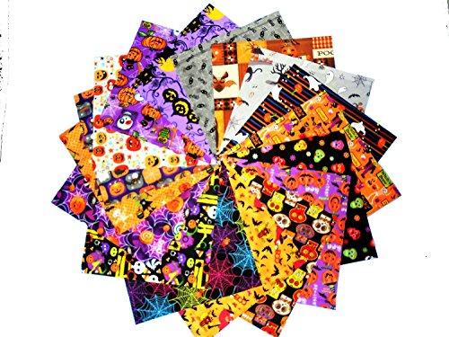 [해외]80 5 Haloween Quilt Fabric Squares Charm Pack / 80 5 Haloween Quilt Fabric Squares Charm Pack