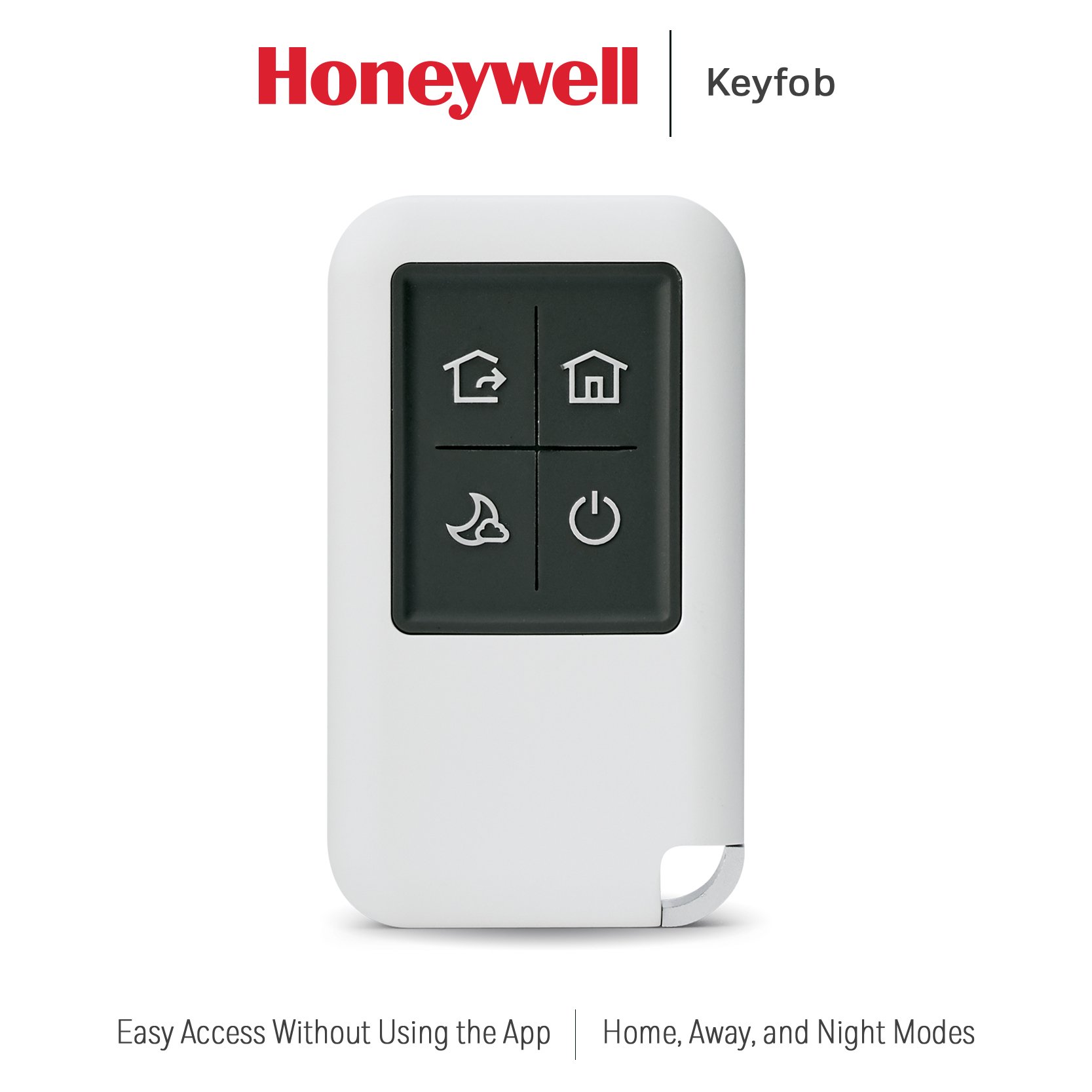 Honeywell RCHSKF1 Smart Home Security System Keyfob, White