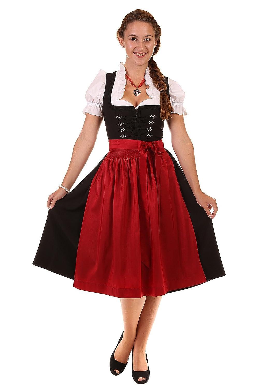 Moser Bekleidung Damen Dirndl schwarz Charline 56629 ohne Schürze kurz