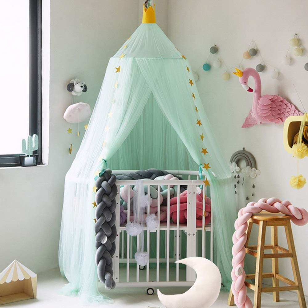 Wenyujh Mosquito Net Canopy Dome Princess Bed Canopy Kids Play Tent Mosquito Net Childrens Room Decorate for Baby Kids Indoor Outdoor Playing Reading