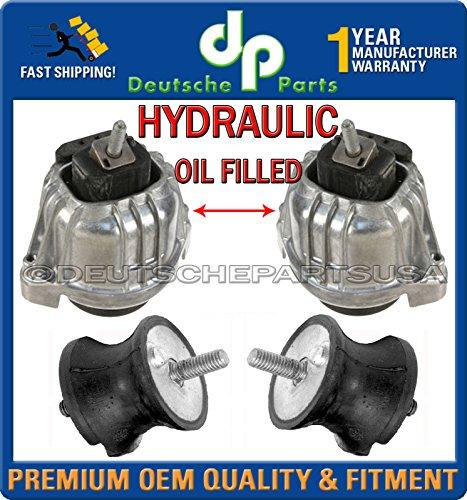(HYDRAULIC ENGINE MOTOR + TRANSMISSION MOUNTS for BMW E90 E91 22116760330 L+R SET)