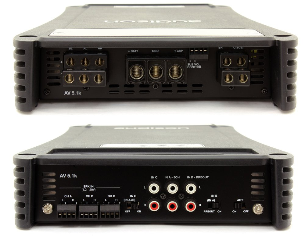 AV 5.1K - Audison 5-Channel 1650W RMS VOCE Series Power Amplifier